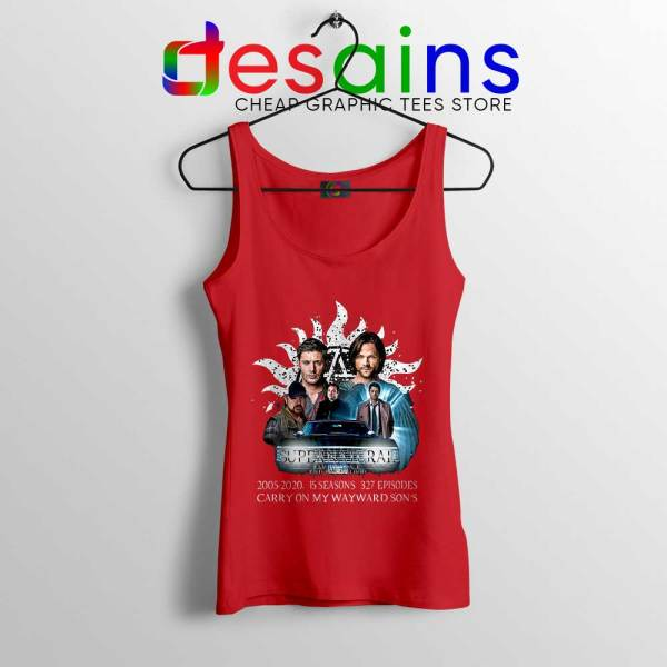 Supernatural Family Red Tank Top Dont End With Blood 4W Tops