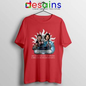 Supernatural Family Red Tshirt Dont End With Blood 4W Tee Shirts