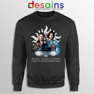Supernatural Family Sweatshirt Dont End With Blood 4W Sweaters