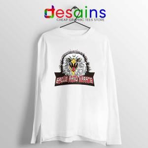 Cobra Kai Eagle Fang White Long Sleeve Tee Netflix