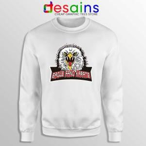 Cobra Kai Eagle Fang White Sweatshirt Karate Kid