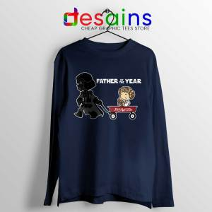 Darth Vader Wagon For 1 Navy Long Sleeve Tee Father's Day