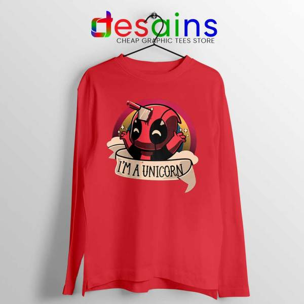 Im A Deadpool Unicorn Red Long Sleeve Tee