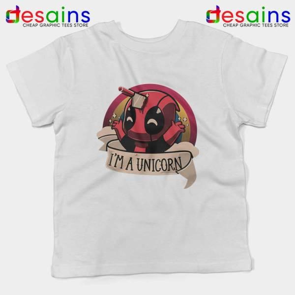 Im A Deadpool Unicorn White Kids Tee Marvel Comics Youth T-shirts