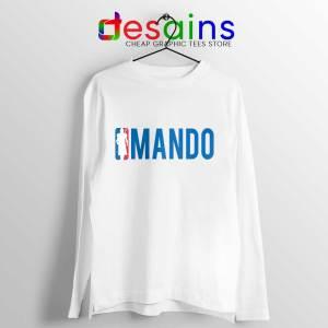 Mando NBA Logo Long Sleeve Tee Mandalorian