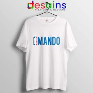 Mando NBA Logo T Shirt The Mandalorian