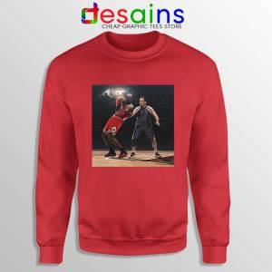 Michael Scott Vs Jordan Red Sweatshirt The Office
