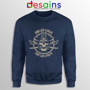 Pirate Skull and Crossbones Navy Sweatshirt