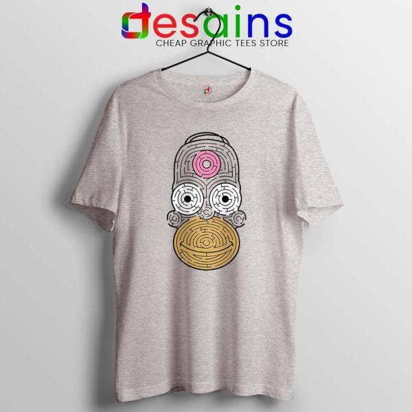 Simpsons Mmm Homer Sport Grey Tshirt Funny Apparel USA Tee Shirts