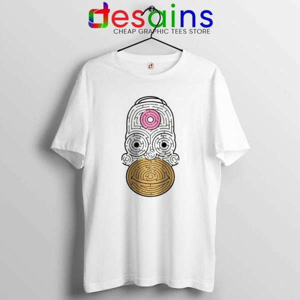 Simpsons Mmm Homer White Tshirt Funny Apparel USA Tee Shirts