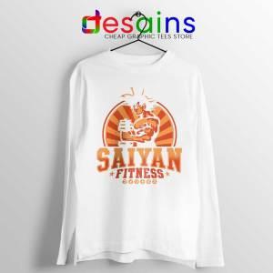Super Saiyan Workout White Long Sleeve Tee Goku Gym