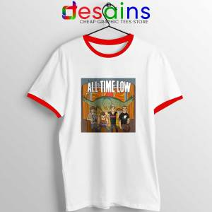 All Time Low Don t Panic Tour Red Ringer Tee
