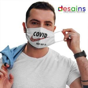 Covid Nike Just Get It Logo Mask Cloth Funny Corona Memes