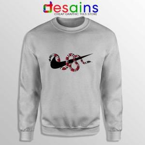 Just DO It Milk Snake Sport Grey Sweatshirt Funny Nike