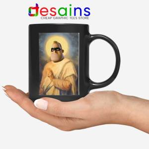 Mr Incredible Meme Pious Black Mug Bob Parr