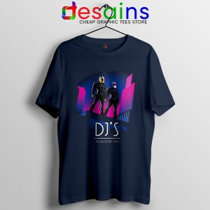Daft Punk Break Up Merch Navy T Shirt Epilogue Music Duo