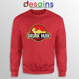 Homer Drinking Beer Red Sweatshirt Drunk Park Simpsons