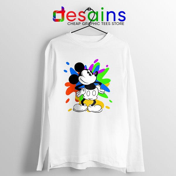 Mickey Mouse On Disney Art Long Sleeve Tee Cartoon
