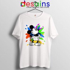 Mickey Mouse On Disney Art T Shirt Cartoon Paint