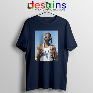 Snoop Dogg Rapper Graphic Navy T Shirt Deep Cover