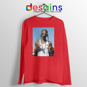Snoop Dogg Rapper Red Long Sleeve Tee Deep Cover
