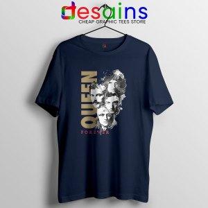 Best Forever Queen Band Navy T Shirt Cheap Merch
