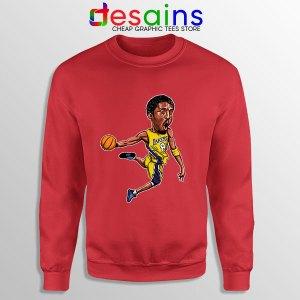 Best Kobe Bryant Game Dunk Red Sweatshirt NBA Lakers