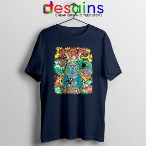 MF Doom Comic Navy T Shirt Celebrity Rapper