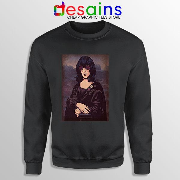 New Wave Mona Lisa Black Sweatshirt Ramona