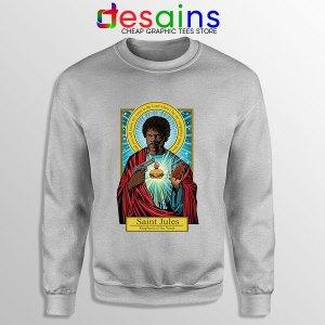Saint Jules Pulp Fiction SPort GRey Sweatshirt Jesus Christ