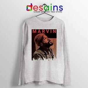 Best Marvin Gaye Tribute SPort Grey Long Sleeve Tee Soul Singer