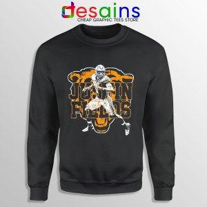 Cheap Justin Fields NFL Black Sweatshirt Chicago Bears