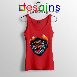 Colorful Stitch Disney Red Tank Top Lilo & Stitch