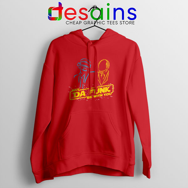 Daft Punk Star Wars Red Hoodie My The Force Be With You