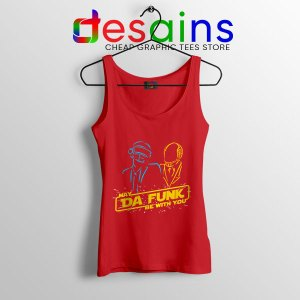 Daft Punk Star Wars Red Tank Top My The Force Be With You