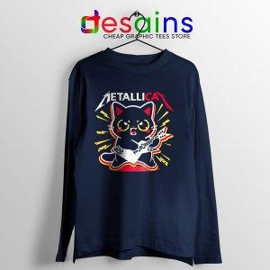 Metallica Cat Funny Long Sleeve Tee Metallicat