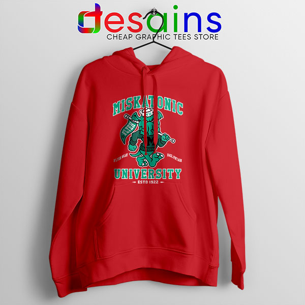 Miskatonic University Cthulhu Red Hoodie R'lyeh