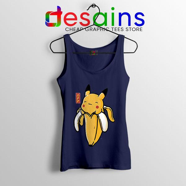 Pikachu Memes Banana Navy Tank Top Cute Pokemon