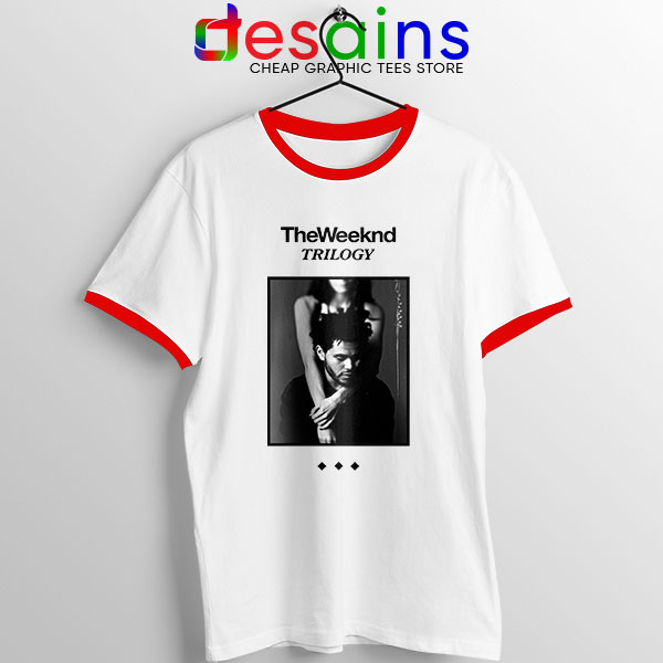 Trilogy The Weeknd Album Cover Red Ringer Tee XO Merch