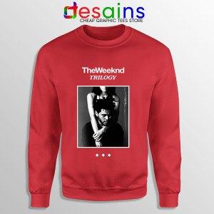 Trilogy The Weeknd Album Cover Red Sweatshirt XO Merch