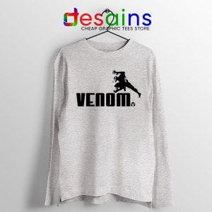 Venom 2 Puma Logo Sport Grey Long Sleeve Tee Let There Be Carnage