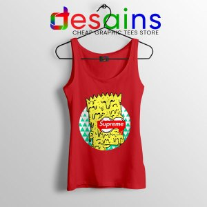 Bart Simpson in Fashion Red Tank Top The Simpsons