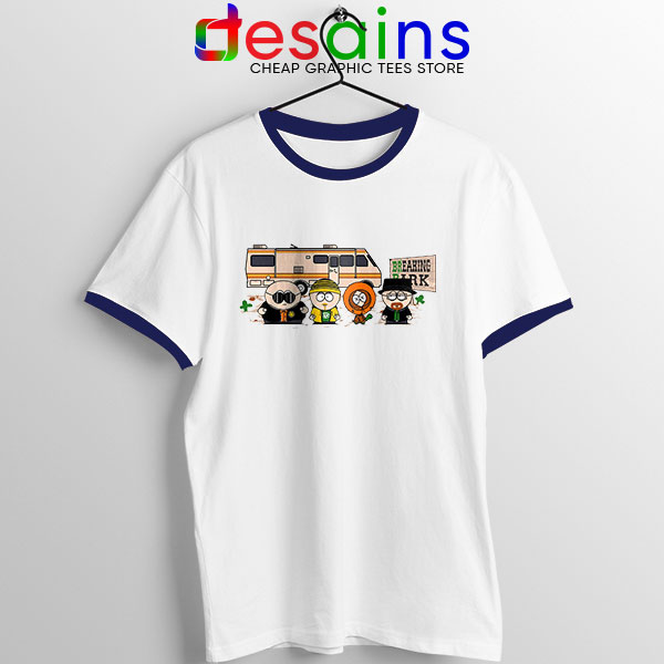 Breaking Bad Park Animated Navy Ringer Tee South Park