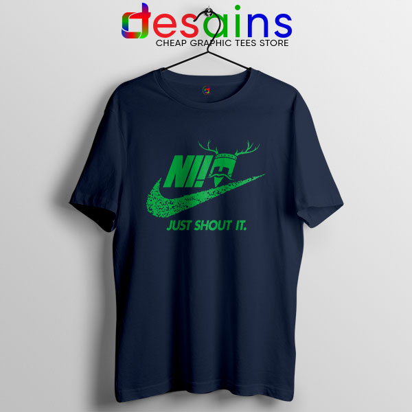 Knights Who Say Ni Navy T Shirt Nike Just Shout It