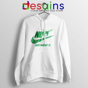 Knights Who Say Ni WHite Hoodie Nike Just Shout It