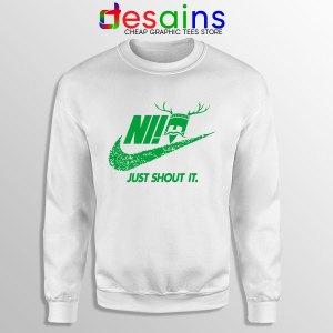 Knights Who Say Ni White Sweatshirt Nike Just Shout It