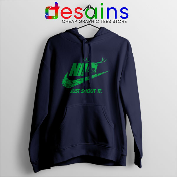 Knights Who Say Ni nAVY Hoodie Nike Just Shout It