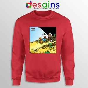Mach Hommy X ThaGodFahim Red Sweatshirt Dollar Menu 2