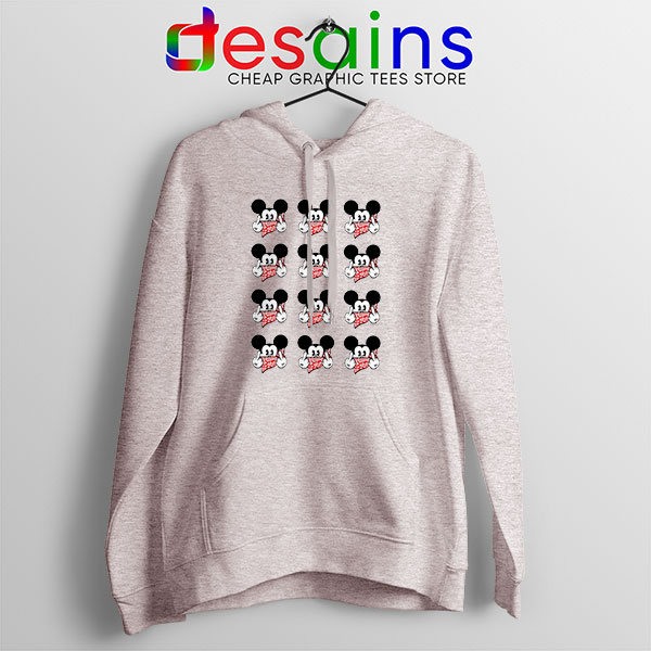 Mickey Mouse Flipping You Off Sport Grey Hoodie Disney Funny