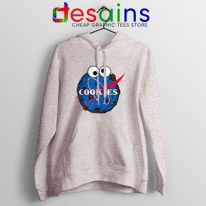 NASA Space Cookies Sport Grey Hoodie Funny Old Logo
